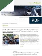 + Ciencia Andalucía 25 de septiembre de 2015