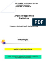 Analise fitoquimica preliminar