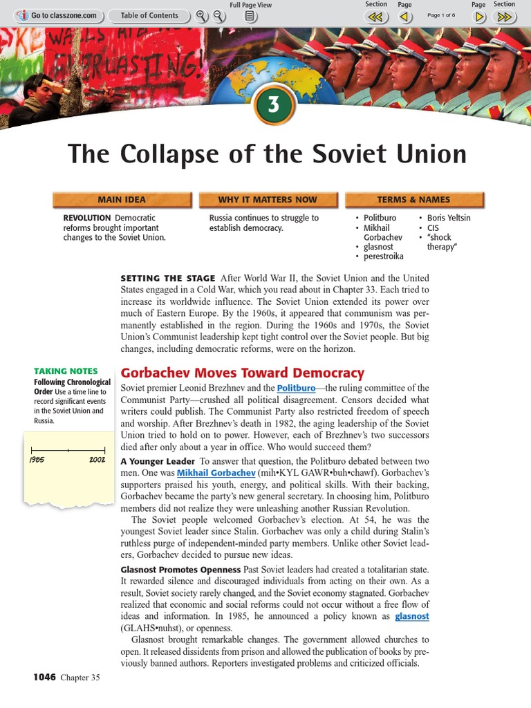 Ch 35 Sec 3 The Collapse of the Soviet Union pdf