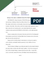 Entergy announcement - FitzPatrick Nuclear Power Plant