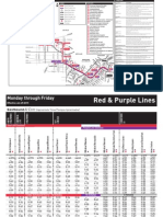 Purple&Red Metro Timetable