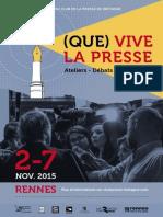 Programme des 40 ans du Club de la Presse de Bretagne