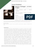 Revista Observaciones Filosóficas - Deleuze y Heidegger… en Torno Al Signo