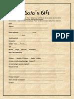 Gaia's Gift Intake Form (SAMPLE)