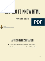 Getting to Know HTML