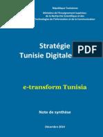 Tunisie Digitale 2018 Note de Synthèse