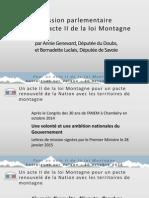 Présentation rapport Acte 2 Loi Montagne - Antraigues Sur Volane - 30.10.15