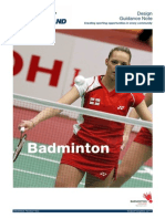 Badminton Design Guide - 2011 1