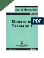 Direito Do Trabalho I - Coletânea de Exercícios