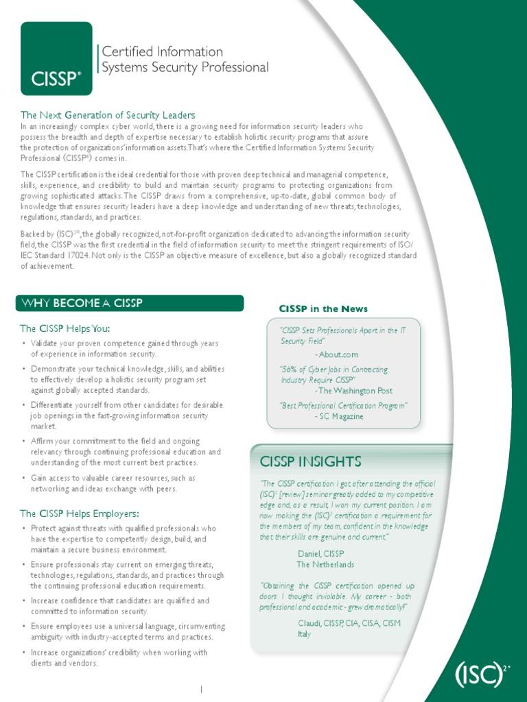 Cissp Informationpdf Computer Security Online Safety Privacy