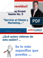 Coaching Grupo Sesión 5 S.C y Marketing Enviar