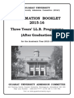 4000 Admissions to LLB 3Yr Programme-2015 Information Booklet
