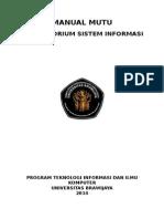 Manual Mutu Lab Si Dengan Koordinator(1)