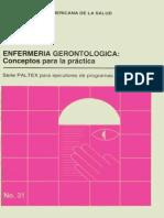 Enfermeria Gerontologica Conceptos Para La Práctica