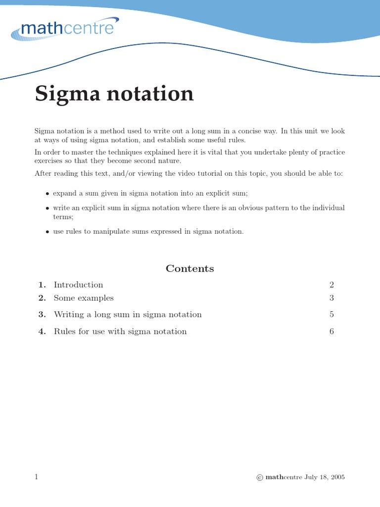 Sigma summation notation biocorpaavc Gallery