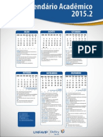 Calendário Acadêmico UNIFAVIP 2015.2
