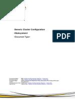 Generic Cluster Configuration Guide.v2