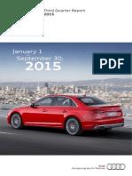 Audi Third Quarter Report 2015 English