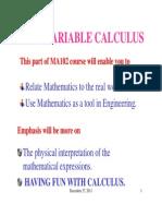 Multi Var calculus IITG Lec 1