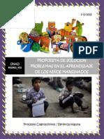 Propuesta de Solución, Problemas en el aprendizaje de los niños marginados