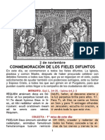 Conmemoración de los Fieles Difuntos (PDF) 2 de Noviembre.