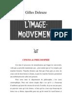 Gilles Deleuze = L'Image-mouvement (Cours)