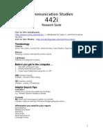 Communication Studies 442i