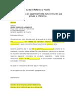 Carta de Referencia Modelo ARIFA
