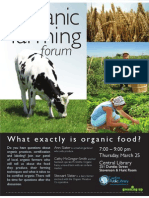 Organic Farming Forum Poster