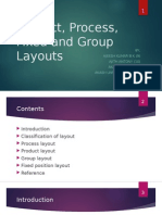 Product, Process, Fixed and Group Layouts