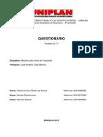 Trabalho T01 de Mec Solos e Fundacoes Arquitetura