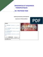 Sante Parodontale Et Sequences Therapeutiques en Prothese Fixee