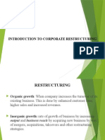 Introduction to Corporate Restructuring