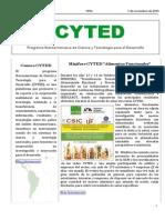 Boletín Cyted Nº26 2015 Web