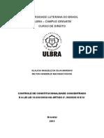CONTROLE DE CONSTITUCIONALIDADE CONCENTRADO