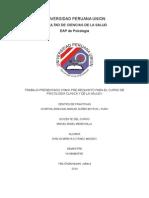 Informe de Actividades de Prácticas en Psicología Clínica y de La Salud i