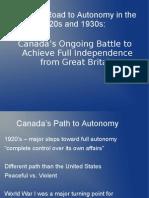 growing canadian autonomy april 2013