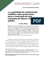 A Objetividade Do Conhecimento Científico Notas Gramscianas