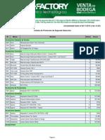 Lista de Productos PC Factory