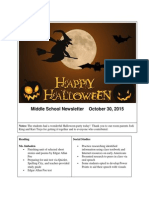 middle school newsletter oct 30 2015