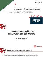 Principios de Gestão e Ética Empresarial - Aula 1