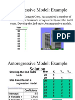 autoregressive model