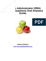 Database Administrator (DBA) Job Interview Preparation Guide