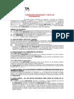 Convenio de Formacion Profesional y Pacto de Permanencia