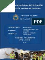 Modulo No. 1 Origen Policia Comunitaria - 2015