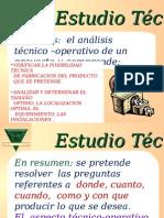 Estudio Tecnico -Tamaño Del Proyecto