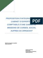 Proposition d'Intégration en Cabinet d'Expertise Comptable d'Une Gamme de Missions de Conseil Social Auprès Du Dirigeant