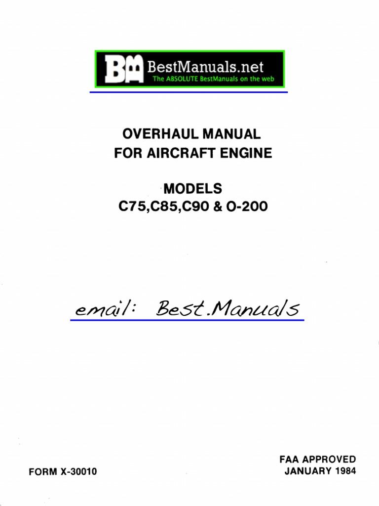 4746613-Continental C75 C85 C90 O-200 Engine Overhaul Manual   Internal  Combustion Engine   Piston