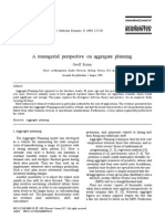 A Managerial Perspective on Aggregate Planning - Para Mapa Conceptual