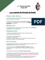 V - Torneio de Futsal Grupo AJF Regulamento